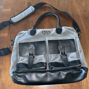 CHAPS by Ralph Lauren Cross Body Shoulder Messenger Bag Laptop Briefcase Bag