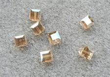 2 SWAROVSKI CRYSTAL GOLDEN SHADOW  8mm Loose BEADS 5601 CUBES, Bridal/Wedding