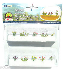 "JTT SCENERY 95558 ASSORTED FLOWER PLANTS 1  O SCALE  3/4"" HIGH   10/PK"