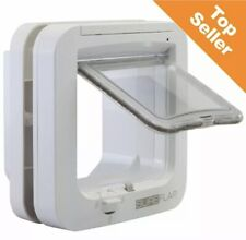 Genuine SureFlap Microchip Pets Door Large Cat Flap Small Big Cat White NEW🇬🇧