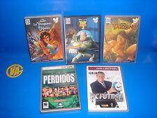 Lot de 5 jeux PC-TARZAN-PERDU-JOUET STORY 2-PC FOOTBALL - LE REVANCHE DES NASI