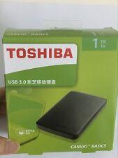 NEW 1 TB USB3.0 Portable External Hard Disk Drive  Toshiba Canvio Basics Black