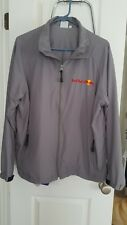 NEW - Red Bull Racing Windbreaker Mens Large Lightweight Jacket Grey - Authentic