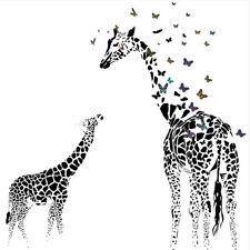 Black Giraffe Deer Butterfly Wall Sticker Vinyl Art Decal Mural Home Room Decor