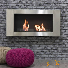 FIREPLACE BIOETHANOL FIREPLACE STOVE ON THE WALL RECESSED FURNITURE