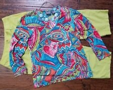 Chico's size 0 outfit, 3pc, capri pants, blouse, necklace (reg. size 4), Nice!