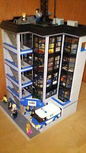 Lego Modular Building Bank/Bürogebäude Moc/Unikat +Geldtransporter+37Minifiguren