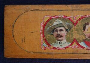 1900 - Baden Powell - Wooden Pencil Case Box - Boy Scout - Boer War - Mafeking
