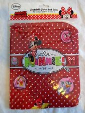 Disney MINNIE MOUSE Stretchable Fabric Book Cover Red Dots Fits 8x10 or Larger