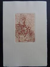 "SALVADOR DALI : GRAVURE - ""El Cid"" # SIGNE # ARCHES # FIELD # 1965"