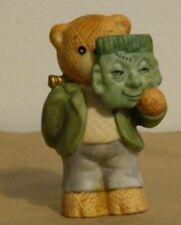 Lucy & Me Halloween Bear Frankenstein Monster Mask Lucy Rigg Enesco 1988 Rare