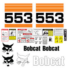 Bobcat 553 Skid Steer Set Vinyl Decal Sticker 25 Pc