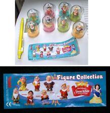 SET Completo 8  Figure BIANCANEVE E I 7 NANI Disney CON CAPSULA Originali TOMY