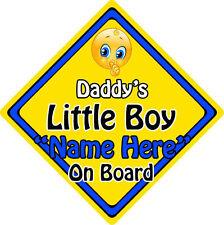 Personalised Child/Baby On Board Emoji Car Sign ~ Daddy's Little Boy On Board