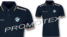 polo BMW MOTORRAD AKRA cotone tricolore italia racing maglietta sbk moto corse