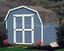 8 x 8 Barn / Gambrel Style Garden / Backyard Shed Plans, Design # 30808
