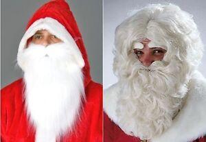 Nikolausbart Bart für Nikolaus Weihnachtsmann Weihnachtsmann-Perücke-Bart
