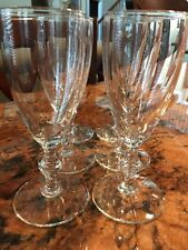 Vintage Clear Glass Wine Glass Set of 6