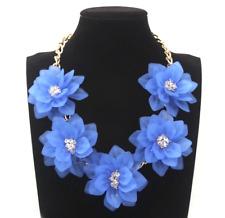 Absolutely Fabulous Stunning Zara Brilliant  Blues 3D Crystal Petal Necklace
