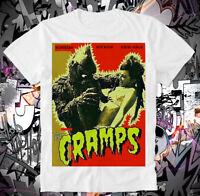 T-Shirt The Cramps Lux Interior Punk Rock Psychobillie Horror Monster Lagoon
