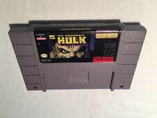 The Incredible Hulk (Super Nintendo SNES) Game Cartridge Excellent!