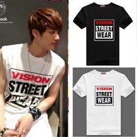 KPOP BTS Vision Street Wear T-Shirt Skateboarding Streetwear Short sleeve Tee