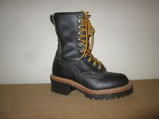 Women's RED WING Black Leather Lace-Up Logger Boots RW-2218 Size 7