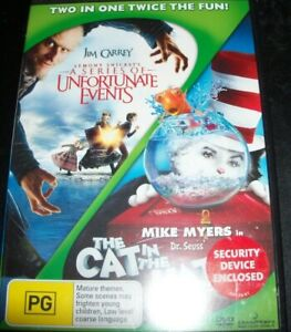 Lemony Snicket's A Series Of Unfortunate/The Cat In The Hat (Aust Reg 4) DVD NEW