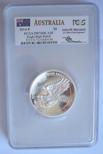 2014 5-oz Silver High Relief Wedge Tailed Eagle PCGS PR70 DCAM $8