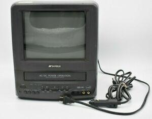 "Sansui 9"" TV VCR Combo COM311ADA VHS Retro Gaming Mini CRT VHS Working"