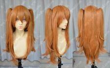 70cm EVA Asuka Soryu Asuka Langley Orange Clip Ponytail Cosplay Wig
