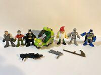 "DC Comics Imaginext 3"" figures heroes lot Hulk motorcycle Batman Robin Marvel"