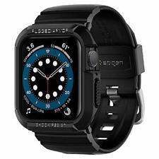 Spigen Rugged Armor Pro for Apple Watch Band w/Case 44mm Series 6/SE/5/4 - Black