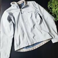 The North Face Apex Light Blue Softshell Fleece Lined Full Zip Jacket S 4 6