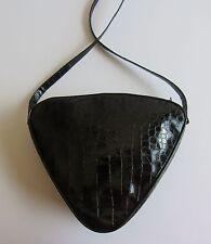 MAUD FRIZON Paris Rare Heart Shape Black Embossed Patent Leather Shoulder Bag