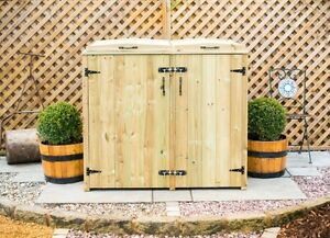 Single Wheelie Bin Tidy Store/Cover/Shed/Storage Unit AND Recycling Box Storage