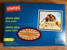Staples 4x6 Photo Plus Gloss Paper 60 sheets each
