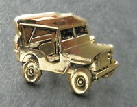 ARMY JEEP US MILITARY VEHICLE GOLD COLORED LAPEL HAT PIN BADGE 1 INCH