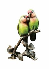 More details for cold painted bronze lovebirds - ltd ed 150 - keith sherwin. presentation boxed.