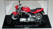 IXO DIECAST TRIUMPH 955 SPEED TRIPLE MOTORCYCLE NEW & BOXED 1:24 G SCALE