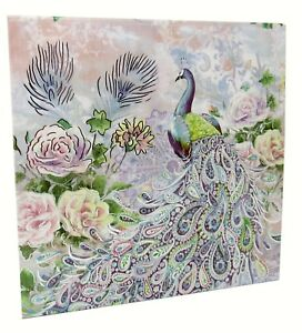 Punch Studio Keepsake Flip Top Nesting Box Pastel Peacock 61968 Small