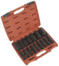 """Sealey Impact Socket Set 16pc 1/2""""sq Drive Deep Metric Ak5816m"""