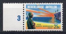 NETHERLANDS ANTILLES = 1965. Marine Soldier, Marginal MNH with Plate No. SG474.