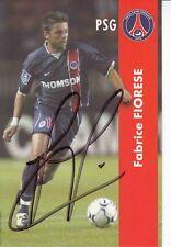 Fabrice Fiorese  PSG Paris Saint Germain  Fußball Autogrammkarte signiert 370990