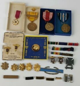 WWII WW2 & Later US Army USGI Suspension Medals Ribbons Minis Insignia Etc