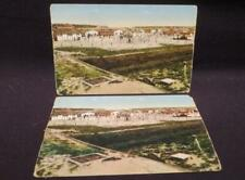 Harderwijk Internment Camp WWI Era Pair of Color Panorama Postcards