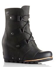 Sorel Joan of Arctic Wedge Mid Boots 6 Black - NIB