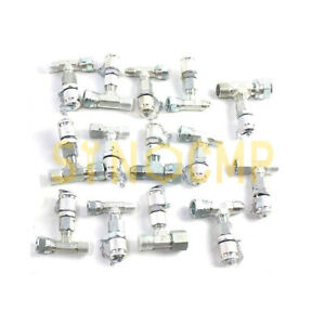 14pcs Tee Fittings Connector for Hydraulic Pressure Gauge Test Kit w/ 1 year wty