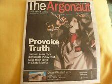 PUSSY RIOT ARTICLE PUNK  LA  MAGAZINE THE ARGONAUT FEB 2019  COVER ARTIST TOO