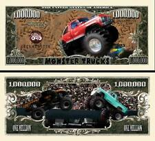 Monster Truck Million Dollar Bill Fake Play Funny Money Novelty with FREE SLEEVE